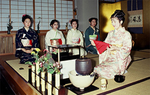 Tea ceremony demonstration by Department of English Language and Literature students