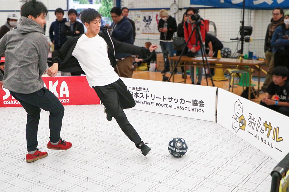 ストリートサッカーサークルの永井選手が第2回全日本PANNA選手権大会ベスト16入り
