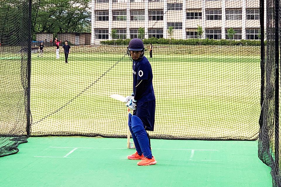クリケットの男子日本代表強化選手団に本学4年の富澤望選手が選出、代表合宿に参加