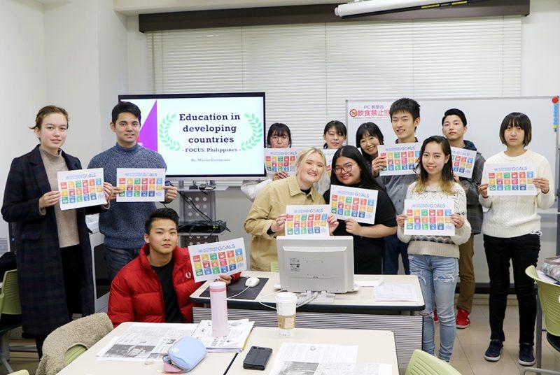 インターンから母国のSDGsについて学ぶ。国際キャリアプログラム(ICP)特別授業