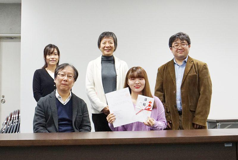 春学期から1名が韓国へ留学。長期留学認定式の模様