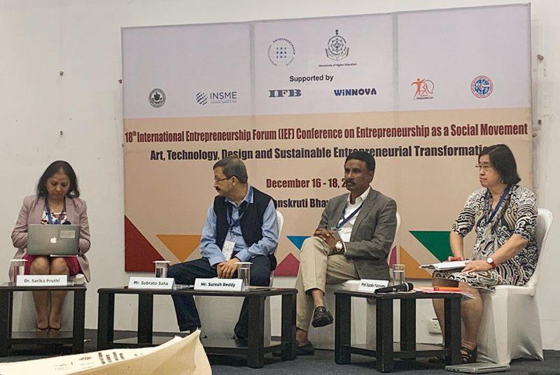 """現代経営学部の横山教授・Birchley教授がインドで開催された""""IEF Conference""""に登壇・発表"""