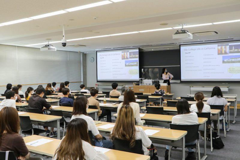 3月に帰国した国際キャリアプログラム(ICP)3年生による留学報告会