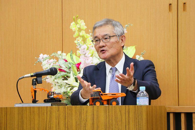 [現代経営研究会]建機ビジネスも「モノからコト」へ。日立建機株式会社社長・平野氏による第5回講演を開催