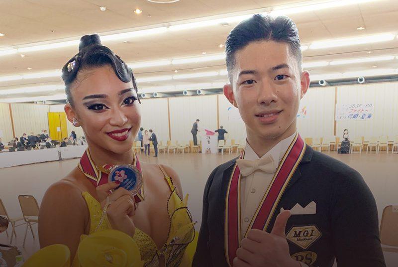 英コミ学科2年生が「2021ダンススポーツグランプリin大阪」で準優勝!