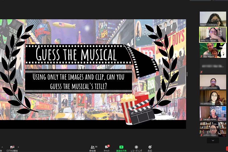 海外ミュージカルの知識と英語を楽しむ!Virtual English LoungeのMusicals Event