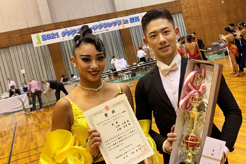 英コミ学科2年生が「2021ダンススポーツグランプリin静岡」で優勝!