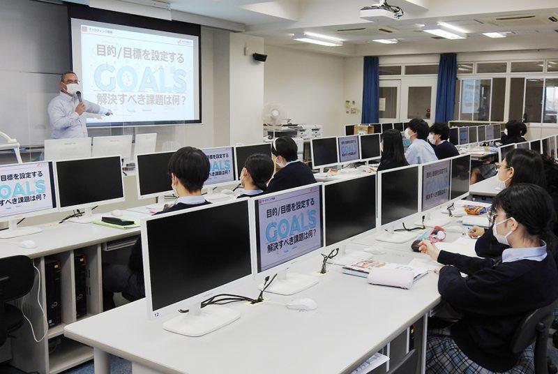 [高大連携]本学広報室部長が都立千早高校の招聘を受け広告戦略に関する講義を実施